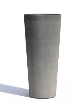 Blumentopf ECOPOTS Amsterdam High aus Kunststoff | 32 x 70 cm | grau