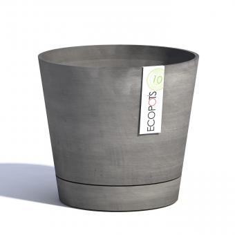 Blumentopf ECOPOTS Venice Smartpot aus Kunststoff | Ø 30 cm | grau