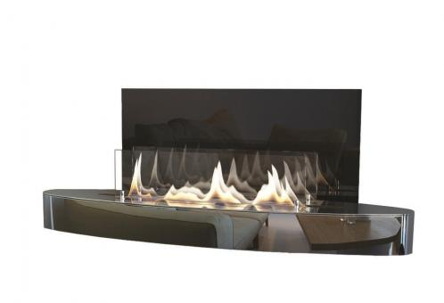 Ethanol-Kamin Spartherm ebios-fire Elipse Wall Mini Chrom