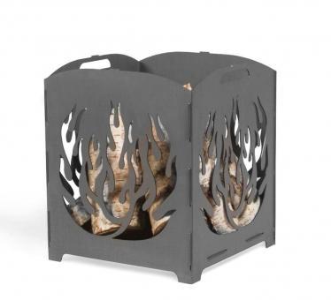 Feuerkorb CookKing Lago aus Stahl | faltbar | mit Laser Cut Motiv