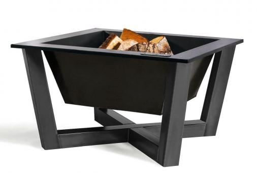 Feuerschale CookKing Brasil aus Stahl | eckig | extra tief | 70 x 70 cm ohne Deckel