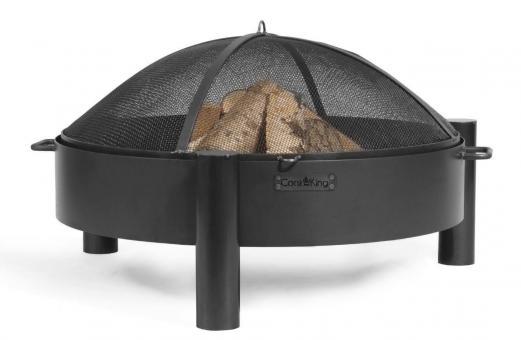 Feuerschale CookKing Haiti aus Stahl | rund 80cm | mit Funkenschutzdeckel