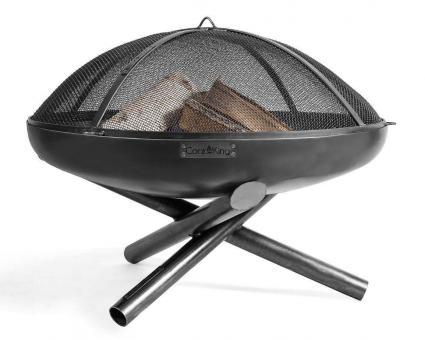 Feuerschale CookKing Indiana aus Stahl | rund 80cm | mit Funkenschutzdeckel
