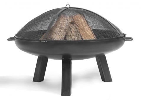 Feuerschale CookKing Polo aus Stahl | rund 80cm | mit Funkenschutzdeckel