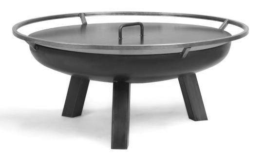 Feuerschale CookKing Porto aus Stahl | rund 80cm | mit Deckel mit 1 Griff