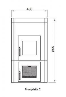 Frontplatte LEDA Version C