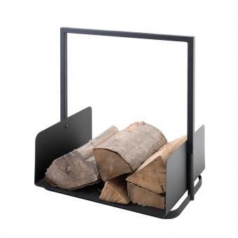 Holzkorb KAMINO-FLAM Holzlege aus Eisen | mit Henkel