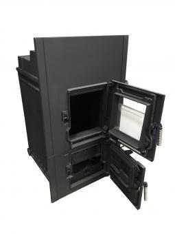 Kachelofeneinsatz LEDA Rubin K17 7 kW (Stutzen 180mm) | D (89,5x48cm)