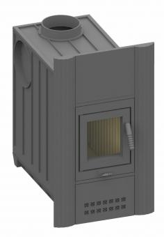 Kachelofeneinsatz Olsberg Concept 12 Frontplatte B (83 x 48 cm)