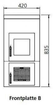 Frontplattenerweiterung LEDA 1004-00038 | Version B