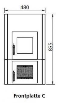 Frontplattenerweiterung LEDA 1004-00038 + 1004-00039 | Version C