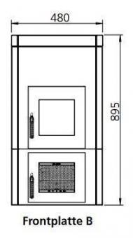 Frontplattenerweiterung LEDA 1004-00040 | Version B