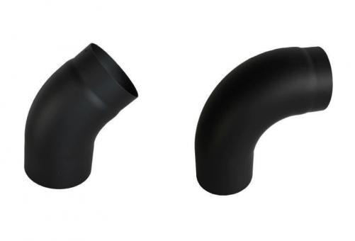 Ofenrohr Ø 130mm   schwarz   Rohrbogen