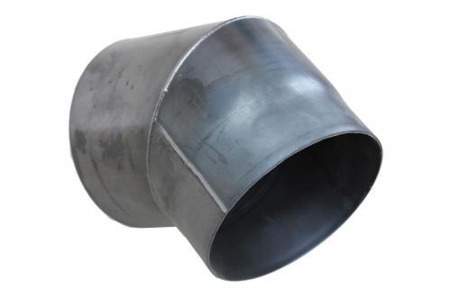 Ofenrohr Ø 160 mm | blank Bogen mit 45°