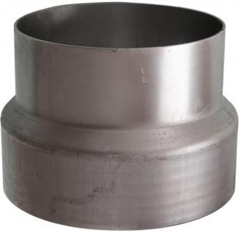 Ofenrohr Ø 180 mm   blank   Erweiterung auf Ø 200 mm