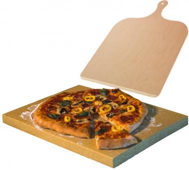 Pizzastein aus Schamott mit Pizzaschieber