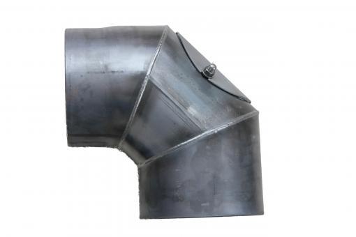 Ofenrohr Ø 150 mm | blank | Rohrbogen 90° mit Tür