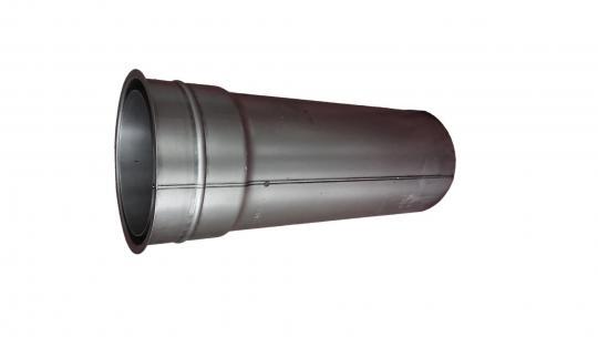 Wandfutter doppelwandig | blank | Länge 40 cm