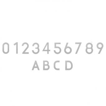 Beschriftungszeichen ADEZZ aus Edelstahl