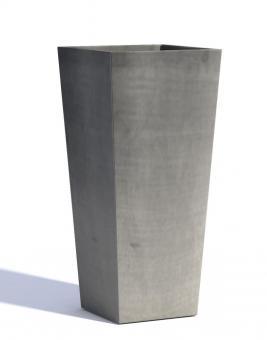 Blumentopf ECOPOTS Rotterdam High aus Kunststoff | 32 x 32 x 70 cm | grau