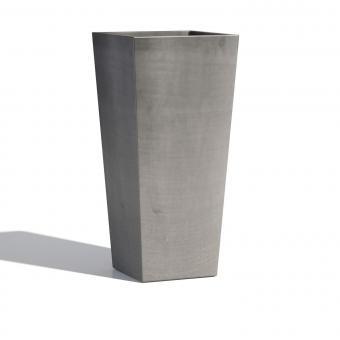 Blumentopf ECOPOTS Rotterdam Medium aus Kunststoff | 32 x 32 x 50 cm | grau