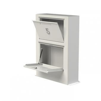 Briefkasten ADEZZ Paca mit Paketfach | aus Aluminium | weiß
