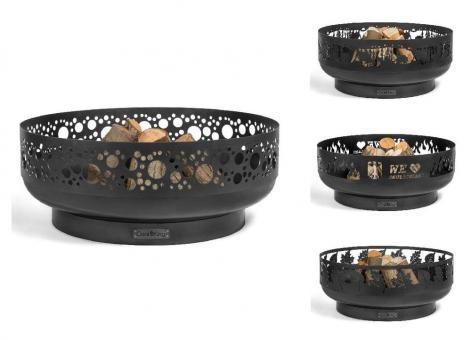 Feuerschale CookKing aus Stahl   rund   mit Laser Cut Motiv