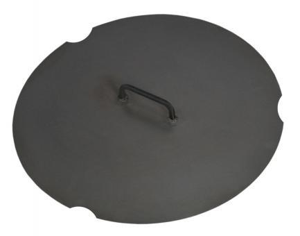 Feuerschalen-Deckel CookKing aus Stahl | rund | mit 1 Griff