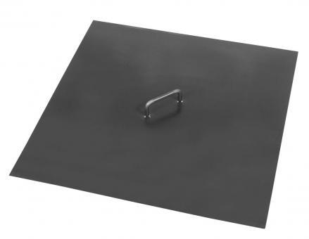 Feuerschalen-Deckel CookKing aus Stahl   eckig   mit 1 Griff