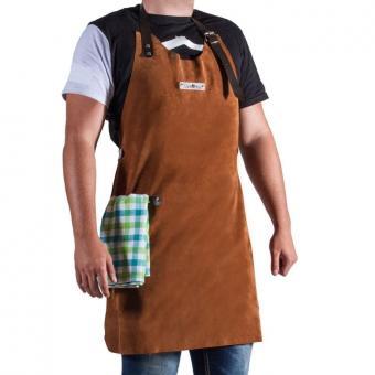 Grillschürze CookKing aus Leder | braun