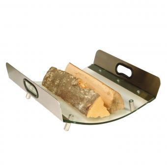 Holzkorb Lienbacher Holzlege aus Glas / Edelstahl | mit Henkeln