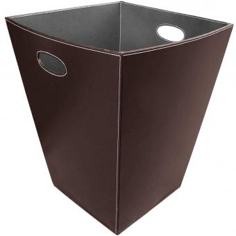 Holzkorb LIENBACHER Kunstlederkorb mit Henkel