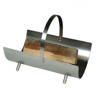 Holzkorb Lienbacher Holzlege aus Metall   mit Henkel