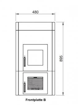 Frontplatte LEDA Version B