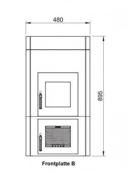 Frontplattenerweiterung LEDA 1004-01065 | Version B