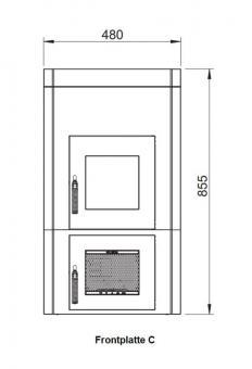 Frontplattenerweiterung LEDA 1004-00040 | Version C