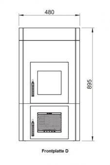 Frontplattenerweiterung LEDA 1004-01188 | Version D