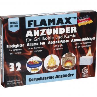 Kaminanzünder FLAMAX Geruchlose Anzünder | 32 Stück