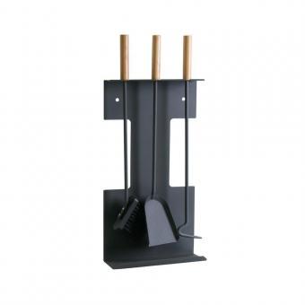 Kaminbesteck KAMINO-FLAM Metall | schwarz | 4-teilig