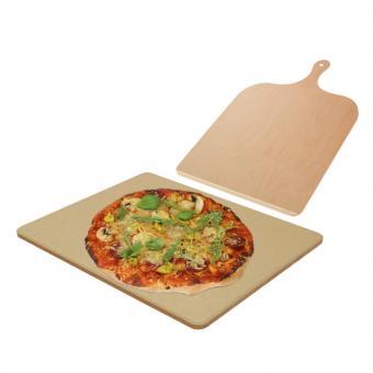 Pizzastein SENDEO aus Cordierit | Set mit Pizzaschieber