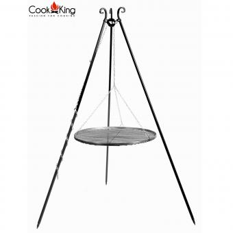 Schwenkgrill CookKing Tripod aus Stahl / Edelstahl | Höhe 180 cm