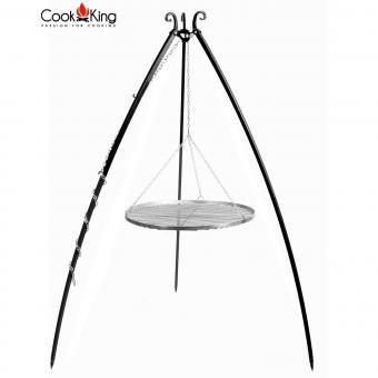 Schwenkgrill CookKing Tripod aus Stahl / Edelstahl | Höhe 200 cm