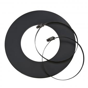 Wandrosette CB-tec schwarz Ø 125 mm | schwarz