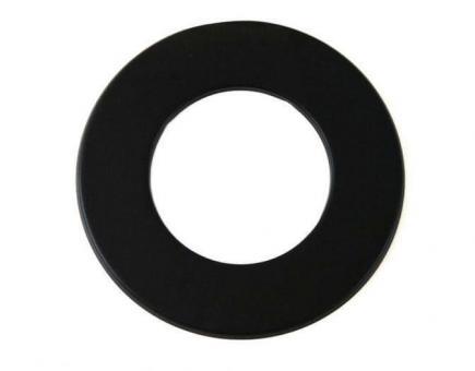 Wandrosette schwarz Ø 120 mm | schwarz