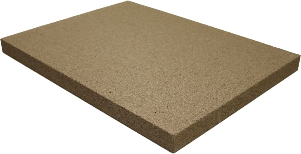 Vermiculite-Platte 30 mm Stärke | 400 x 300 mm 3 Stück